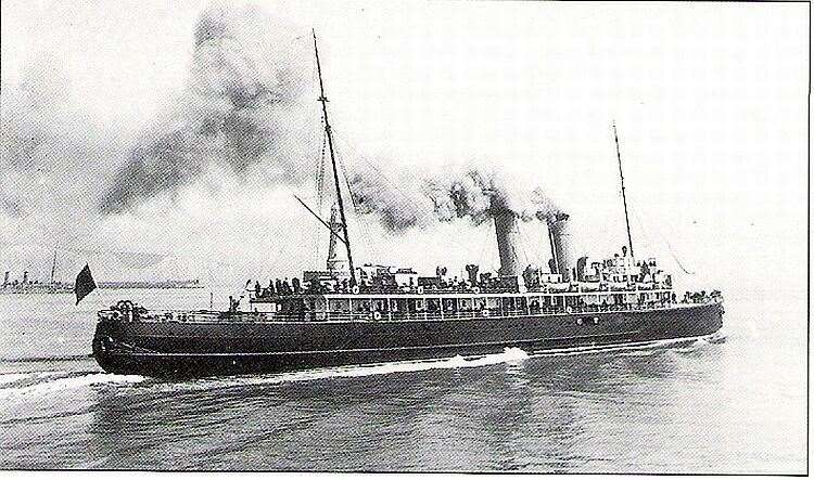 HS Pieter de Coninck transported injured servicemen from France to England from 16 Mar 1917 to 28 Mar 1919
