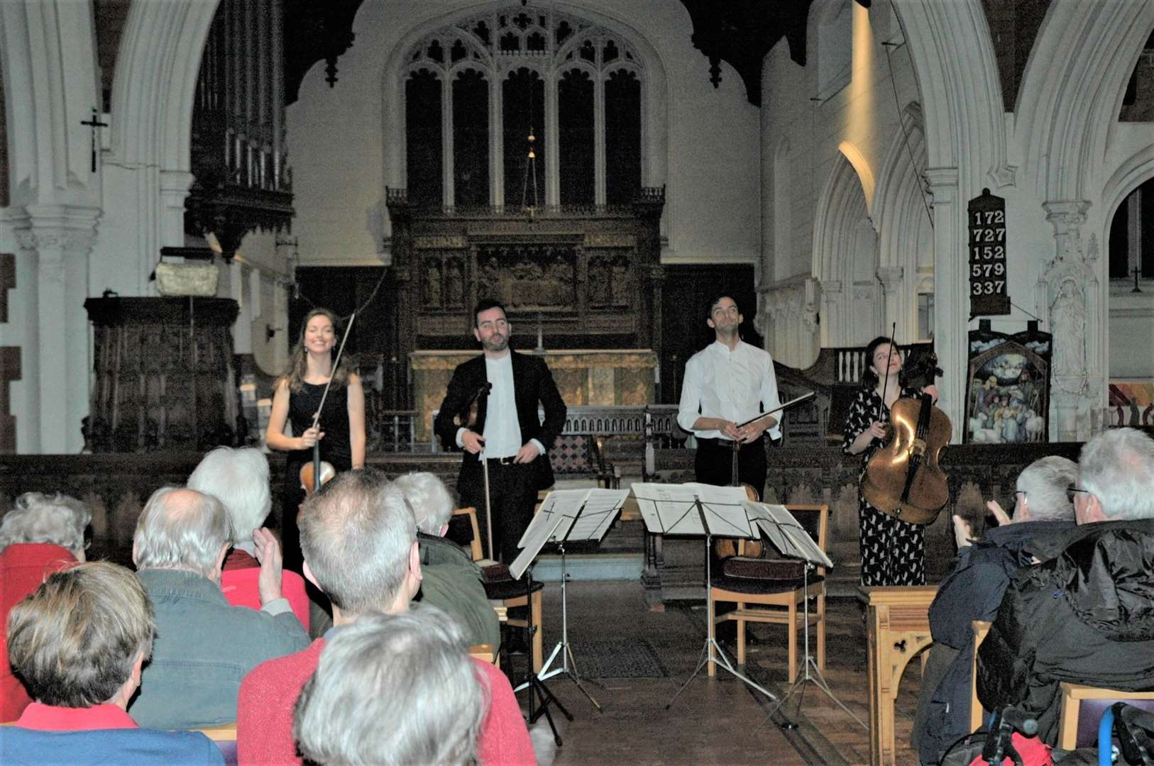 Solem String Quartet in concert in St John's Church in Stansted (27732143)