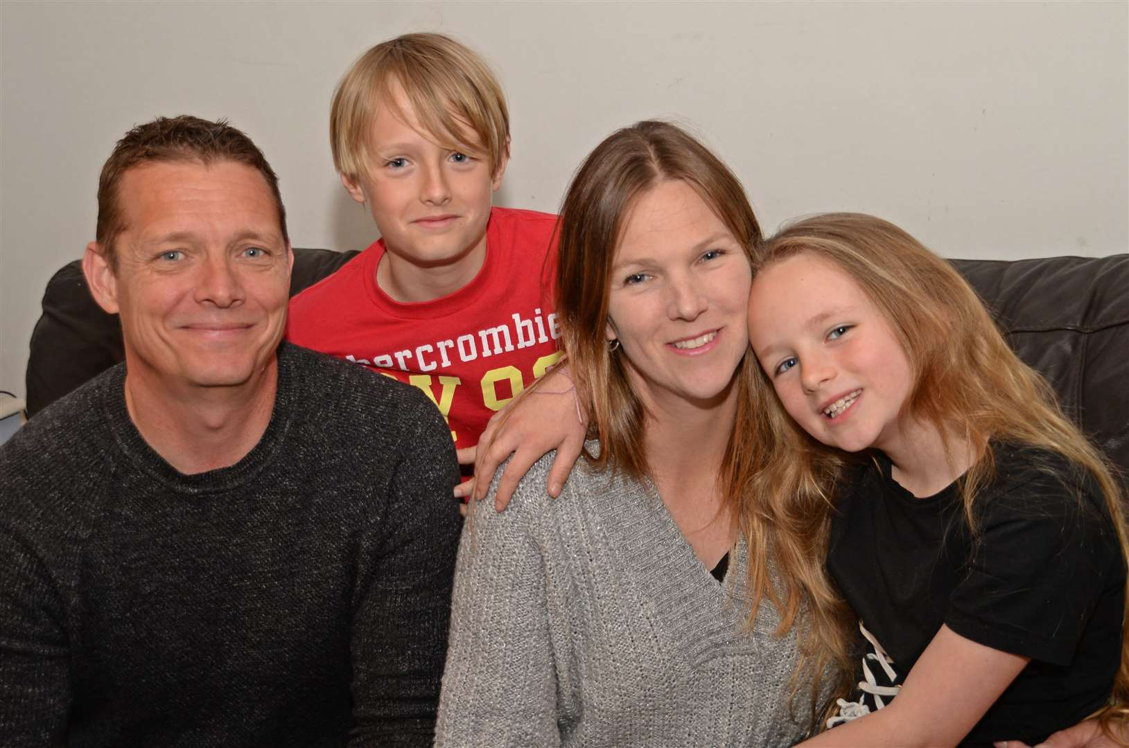 Beth with husband Richard and their children Joe and Abi. Pic: Vikki Lince (35689059)