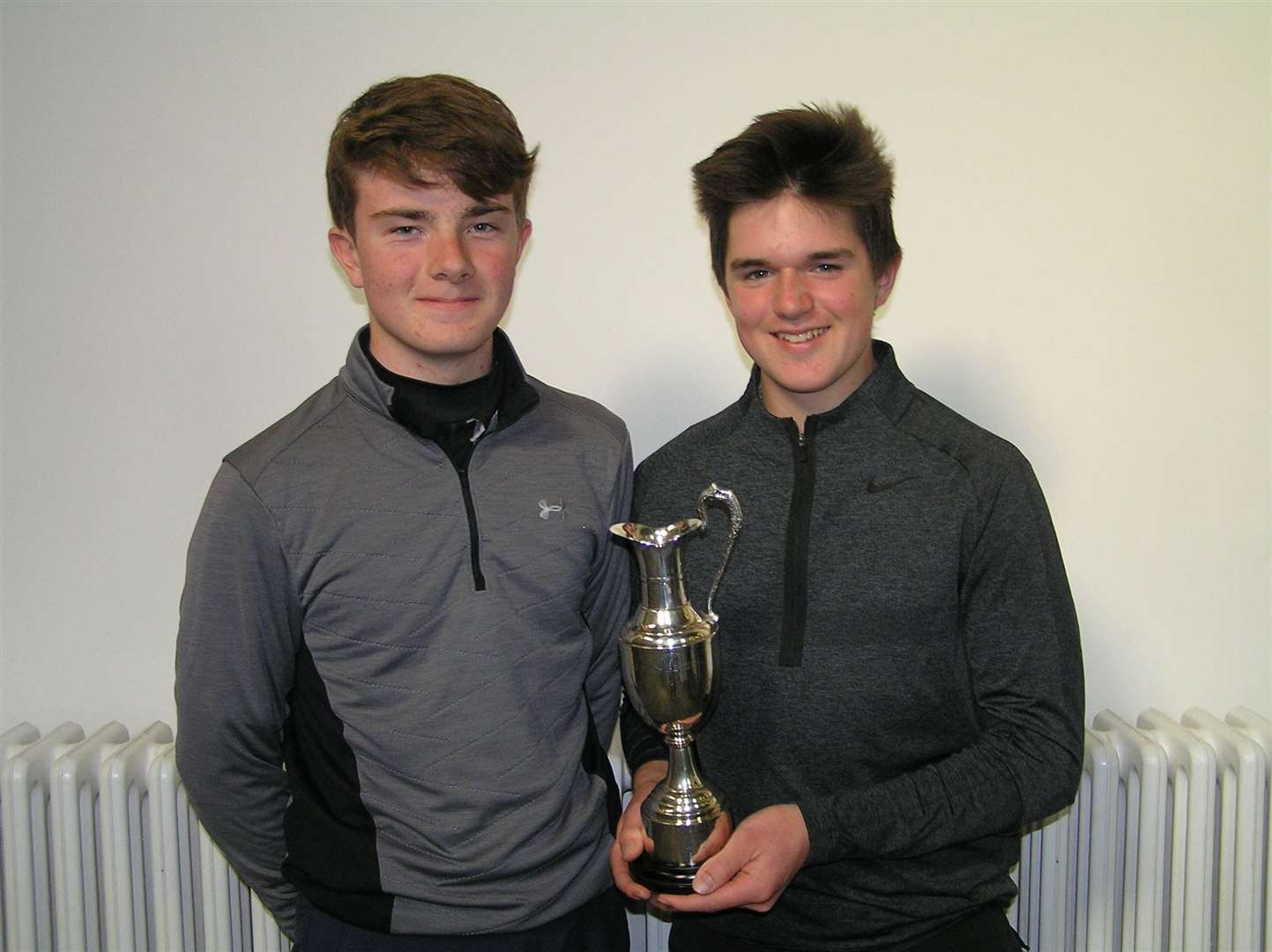 George Durkan, left, and Max Hopkins of Bishop's Stortford Golf Club at the Hertfordshire Schools' Scratch Tournament (8177425)