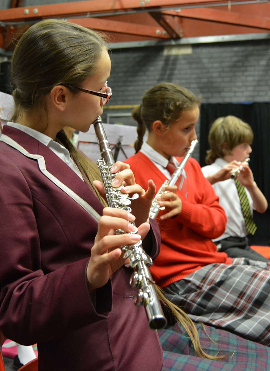Young musicians at Birchwood High School (12773905)
