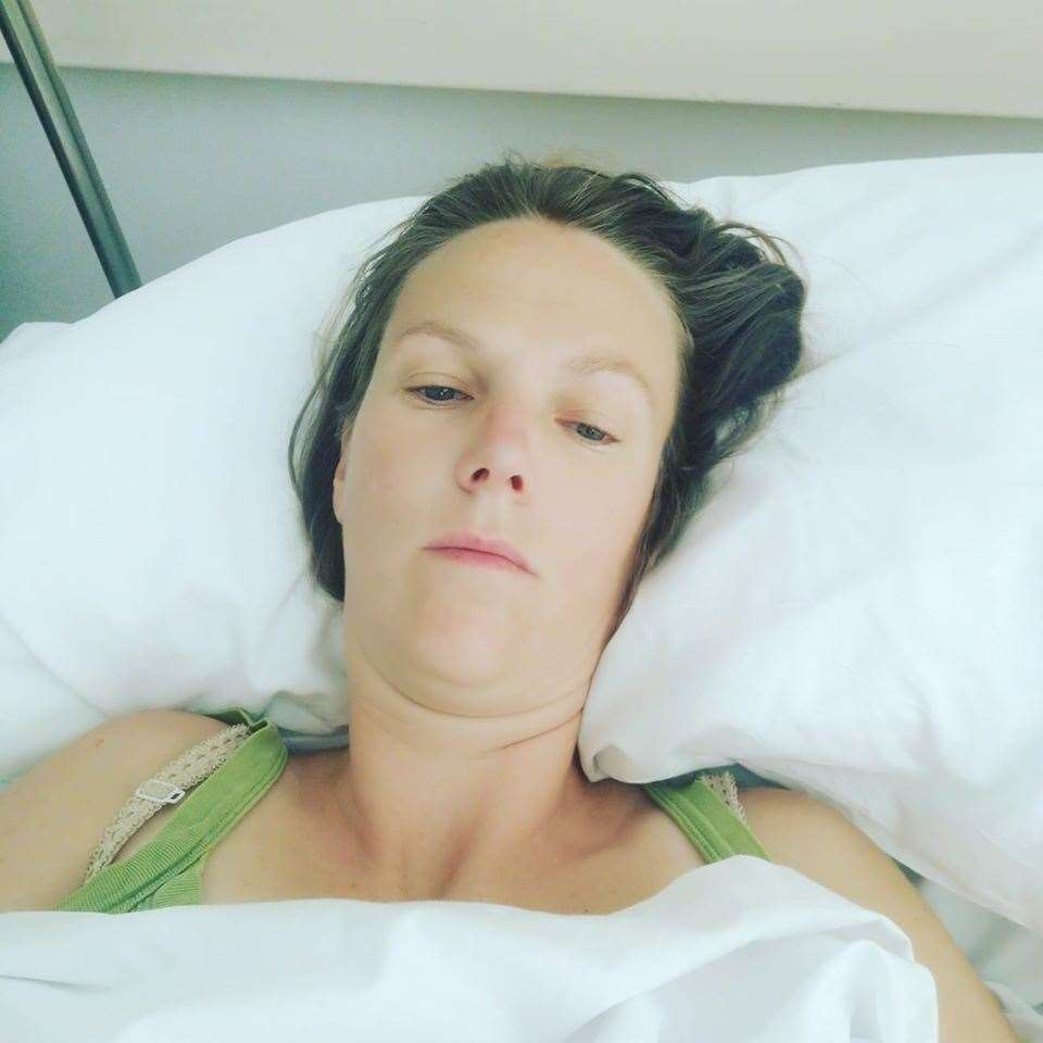 Beth Purvis in hospital (35688764)