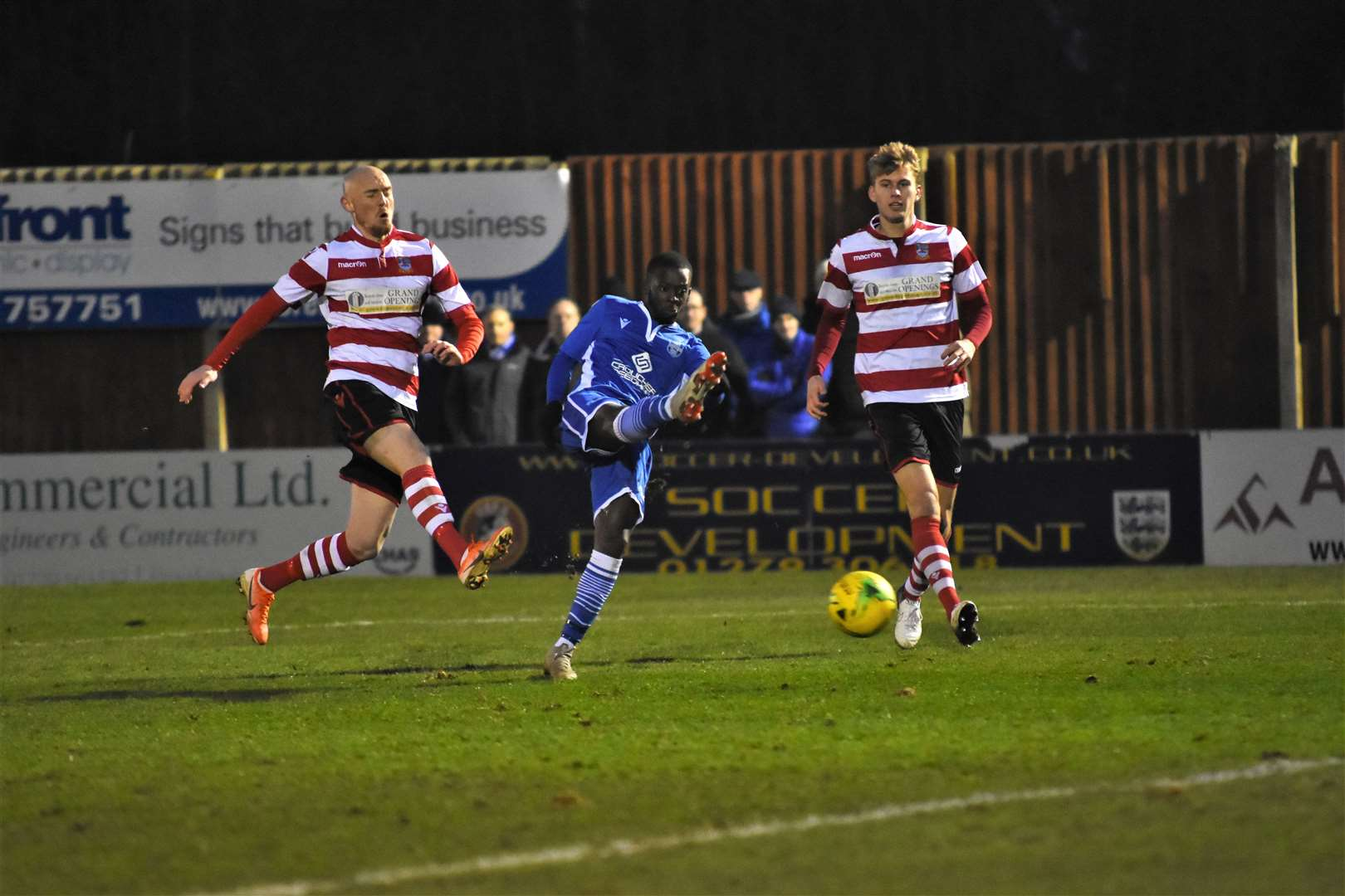 Blues 1 Kingstonian 2. Matthew Campbell-Mhlope. Credit: Nathan Cracknell (25838865)