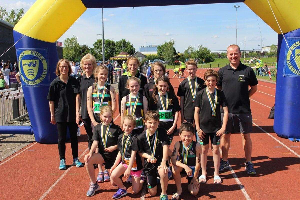 The Stortford Junior Tri Club at the East Essex Kids Triathlon in Basildon (11856755)