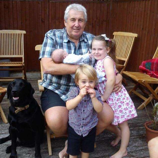 John Turner pictured a few years ago with his grandchildren, Harriet, Hugo and Jake