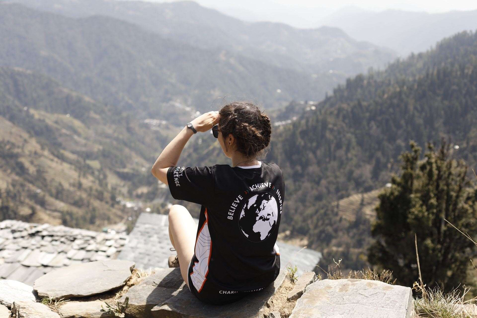 Leanne Pharaoh during her family's trek in the Himalayan foothills. Picture by Emma Pharaoh (10432330)