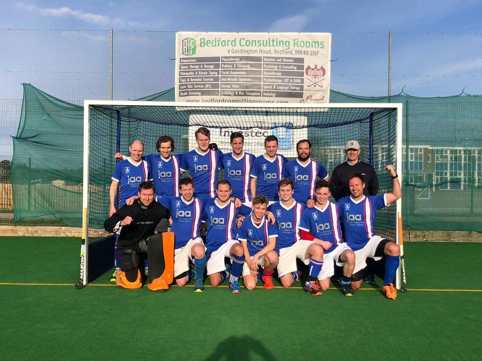 Bishop's Stortford's men's first team celebrate becoming champions