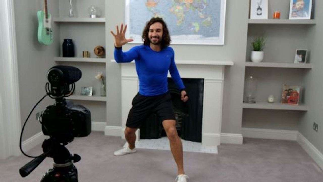 Louise and her kids did PE with Body Coach Joe Wicks at 9am every day, along with 800,000-plus other households all over the world (32655263)