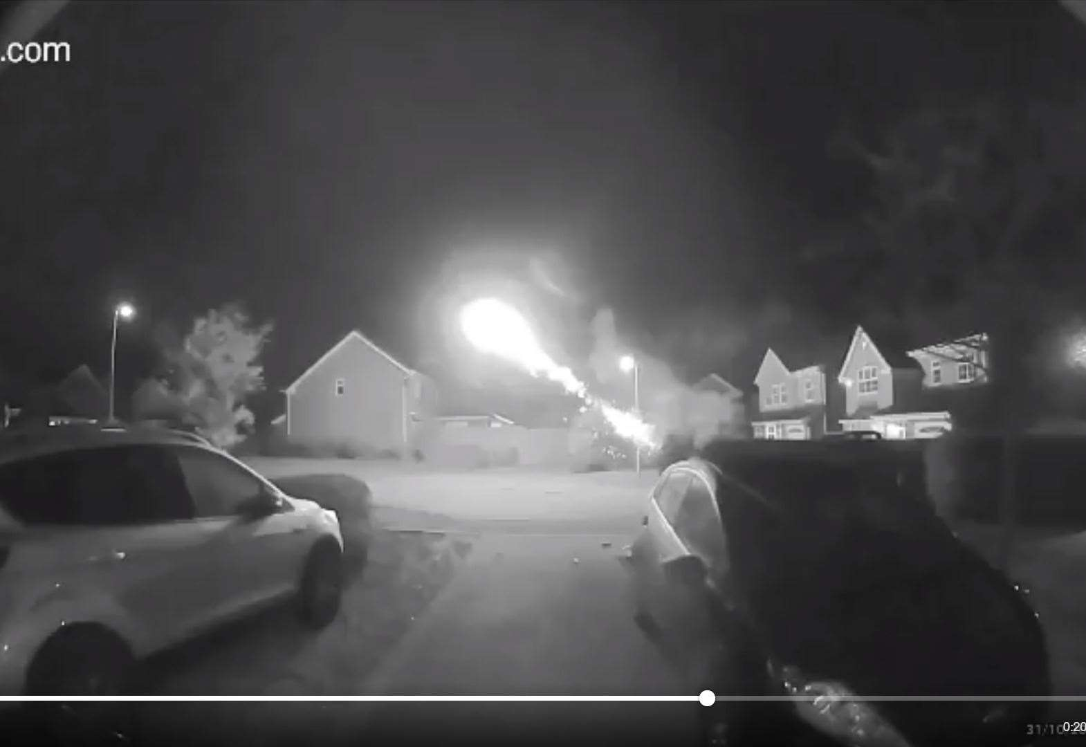 Fireworks fired at police, houses and cars in Stortford in Hallowe'en disorder