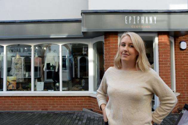 Epiphany, South Street, Bishops Stortford. Owner Alexandra Banks is about to celebrate her first year in business. Pic: Vikki Lince