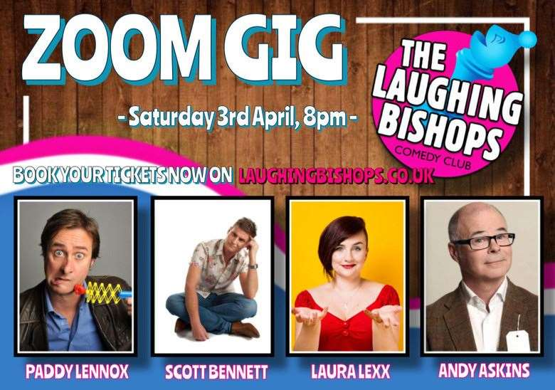 Saturday's gig will be the third in Paddy Lennox's Laughing Bishops Zoom series