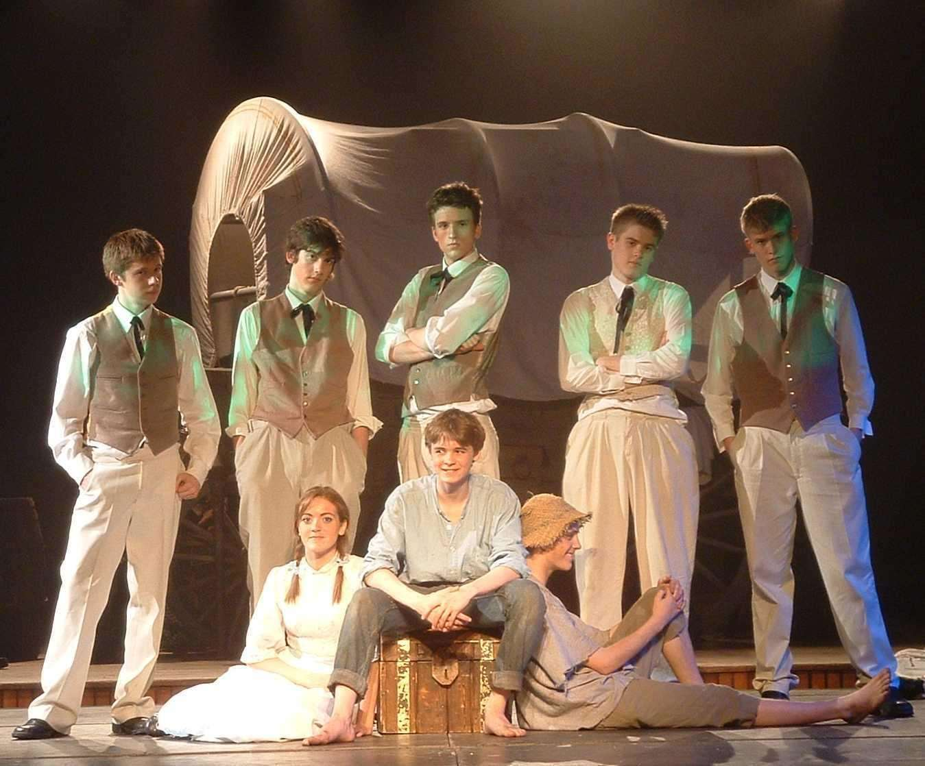 Greg, back centre, as a narrator in a school production of Tom Sawyer (7218468)
