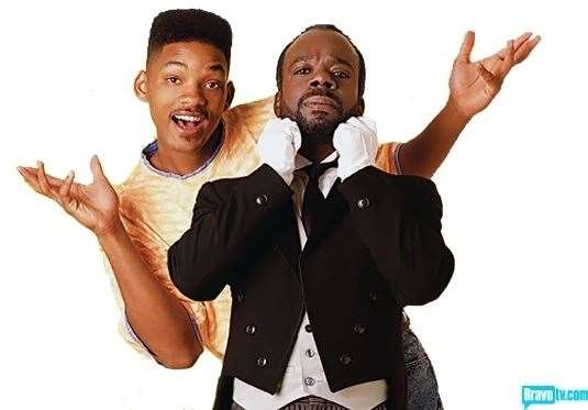 Will Smith and Joseph Marcell in The Fresh Prince of Bel Air