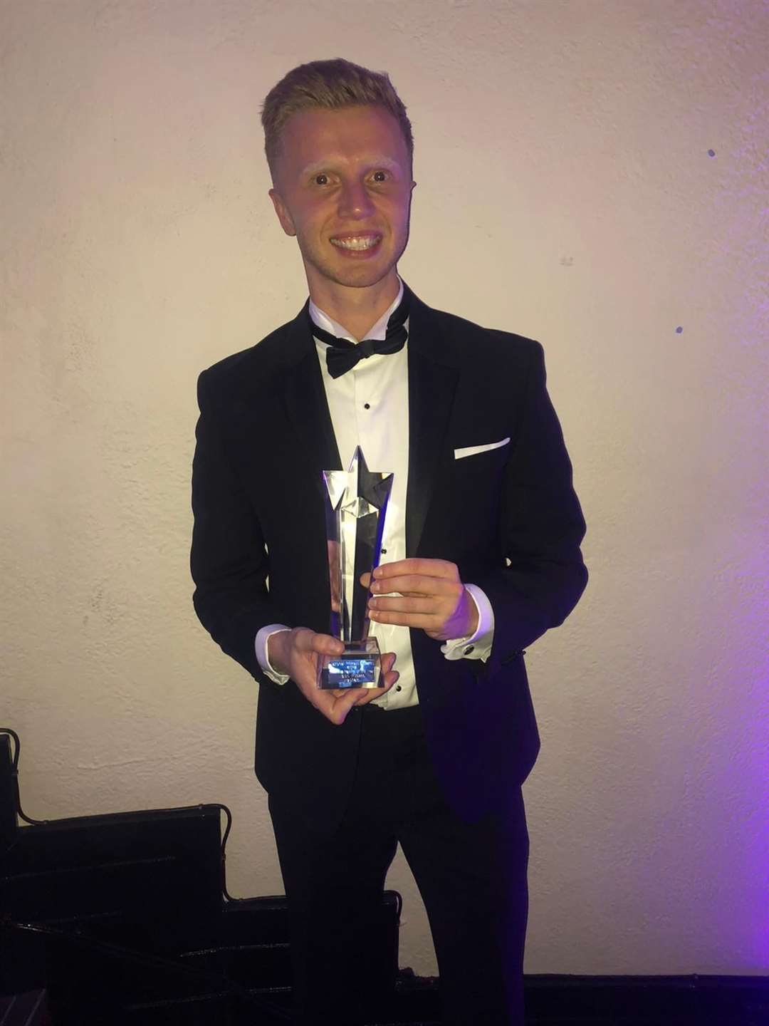 Ollie Emsden with the Best Boutique Gym Facility award (25727823)