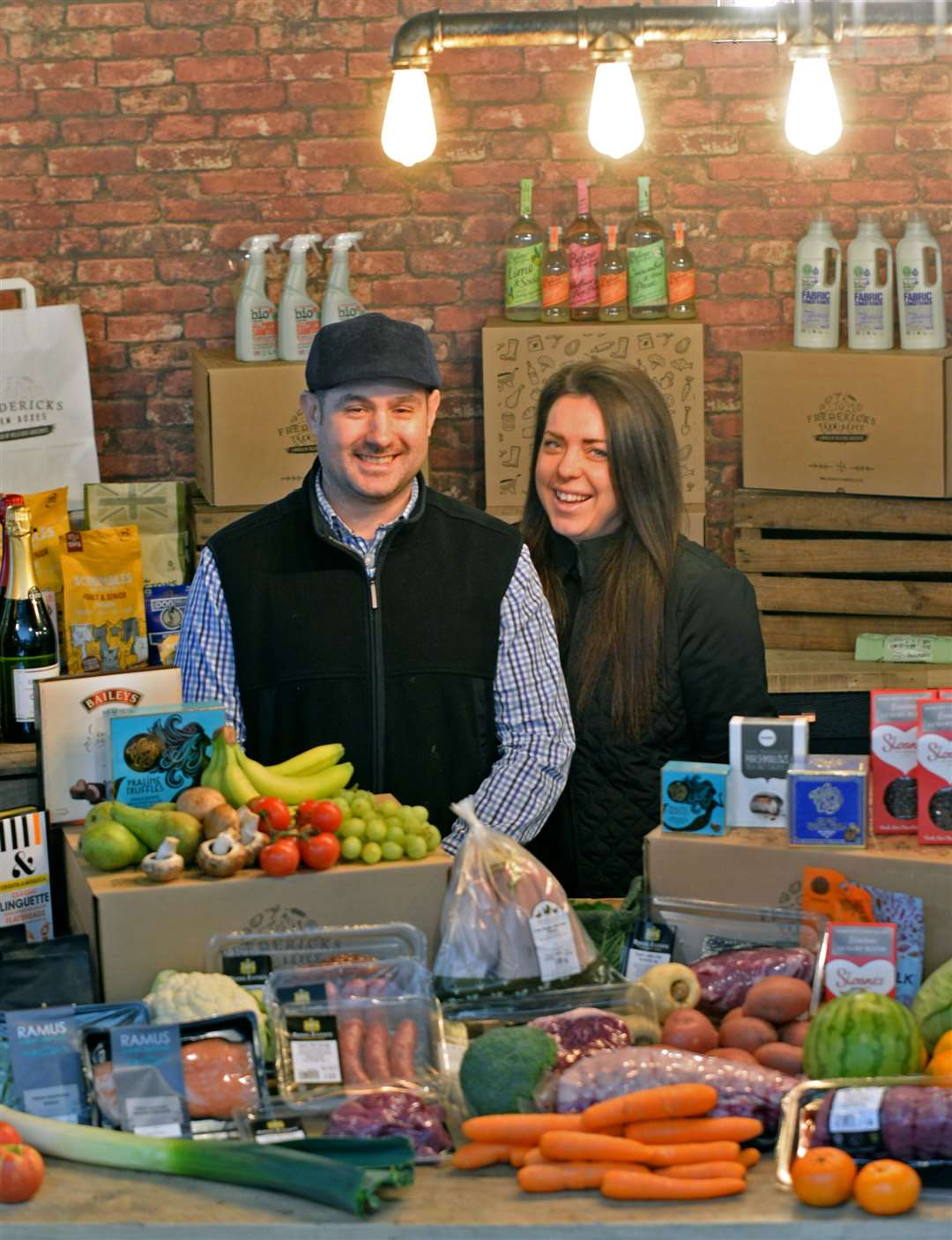Frederick and Maria Hopkinson have launched Frederick's Farm Boxes from their base at the Peek Business Centre. Picture: Vikki Lince