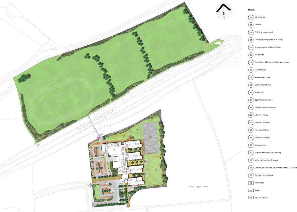 Bishop's Stortford North secondary school plans (7255684)