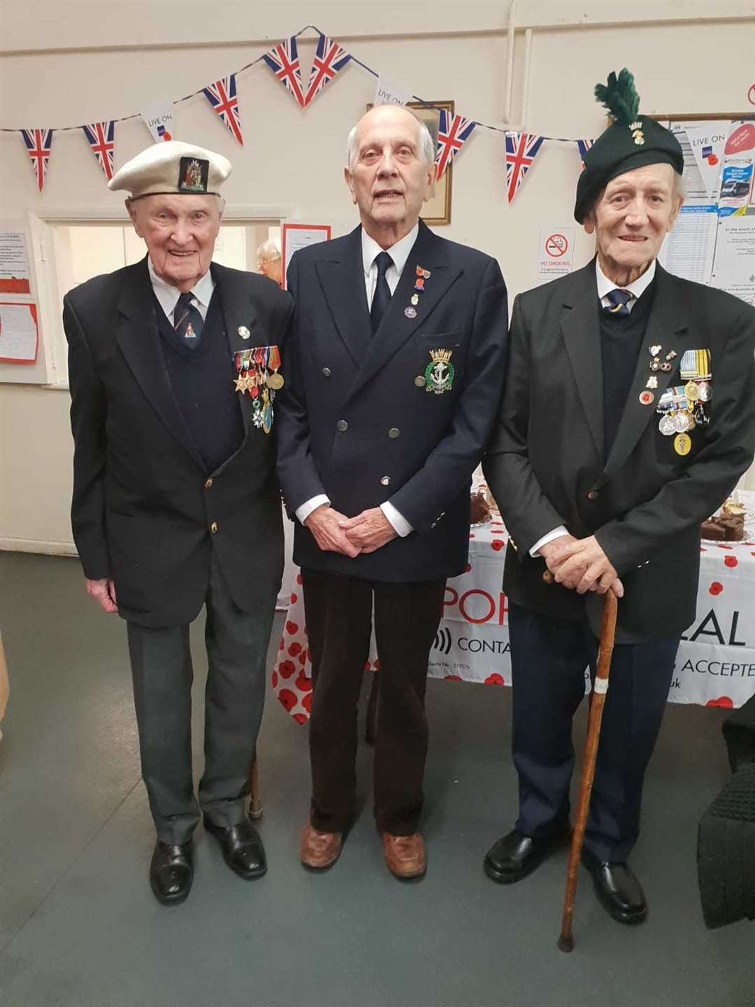 Veterans, from left, Cyril Banks, Peter Cullen and the late Norman Snook (10521406)