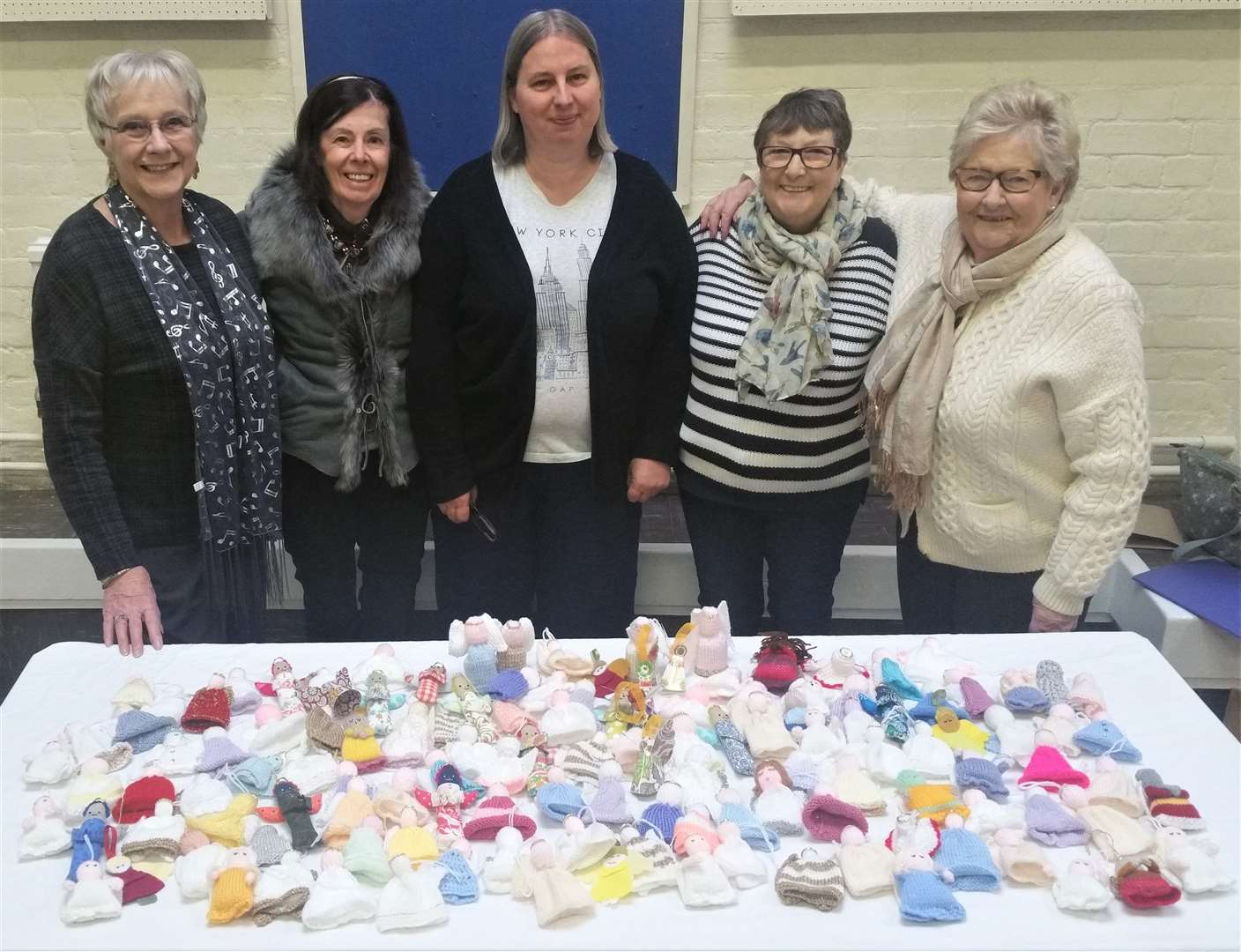 Stortford Methodist Church's Knit and Natter group have created a collection of knitted angels to adorn the town's high street (5769709)