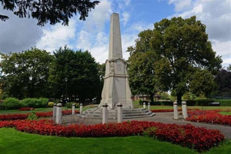 The war memorial in Castle Gardens