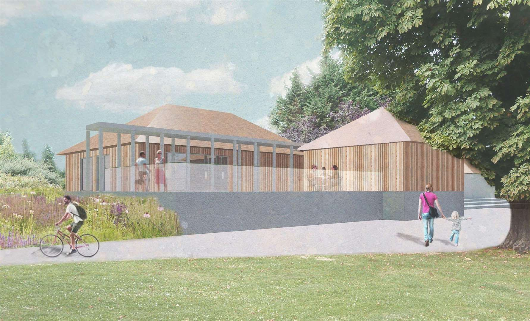 Transformation plans for Castle Park in Bishop's Stortford. (7089130)