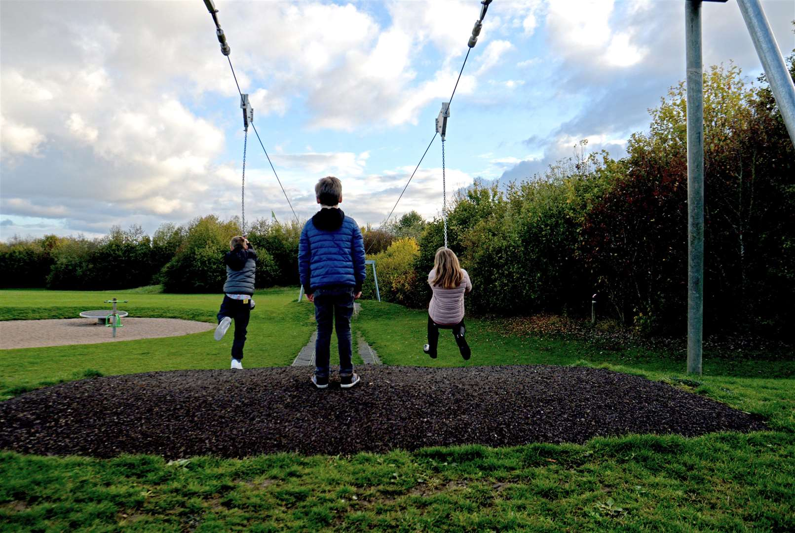 Southern Country Park - children on the zip wire.