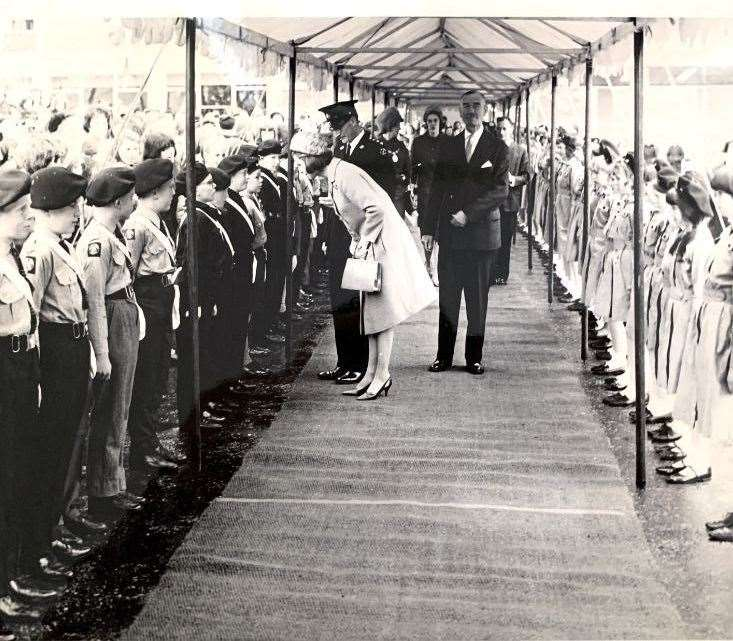 Princess Alexandra talks to local Scouts who lined up to greet the 28-year-old royal. Pictures: George Taylor (34043943)