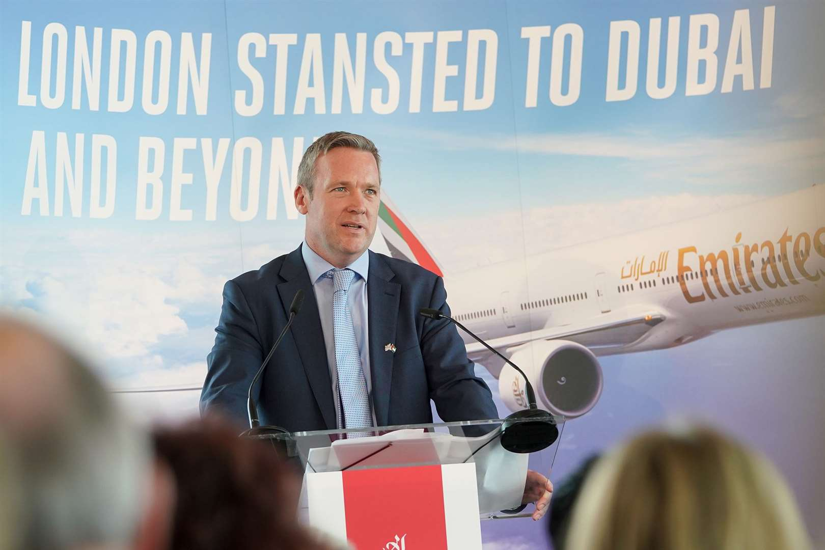 Ken O'Toole at the first Emirates flight launch in June 2018 (26385300)