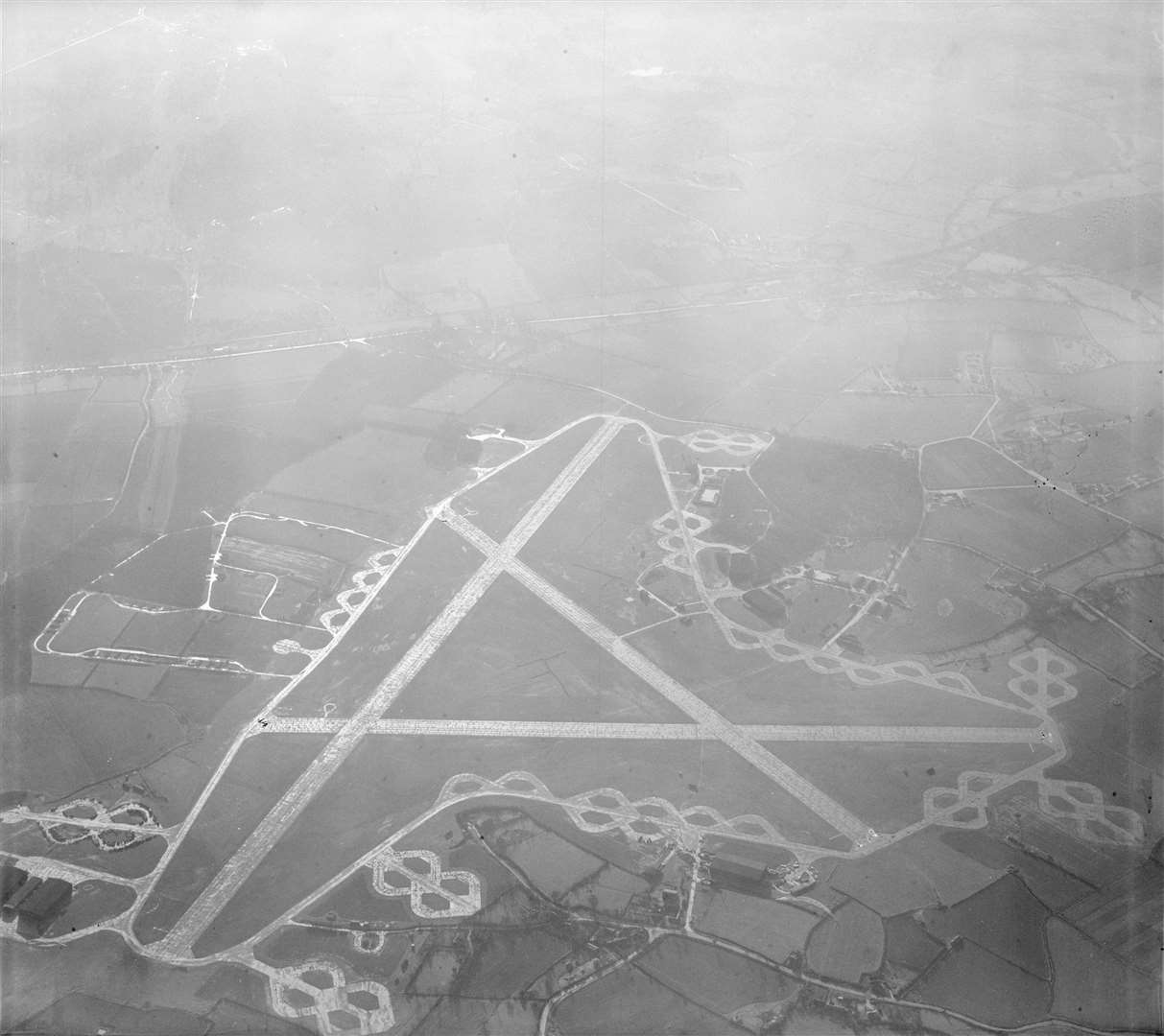 Stansted Airport in 1947 Credit: Historic England