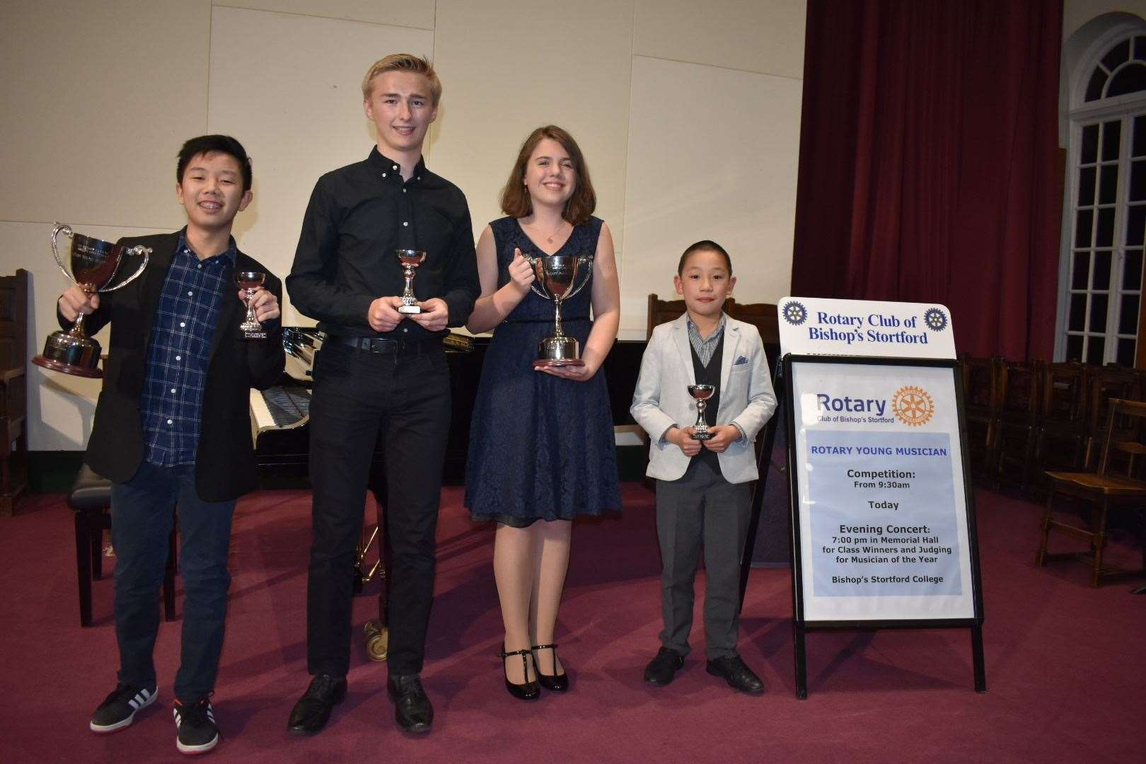 Winners, from left, Justin Man, Harry Collier-Smith, Olivia Rnjak and Henry Y-R Li (9548197)
