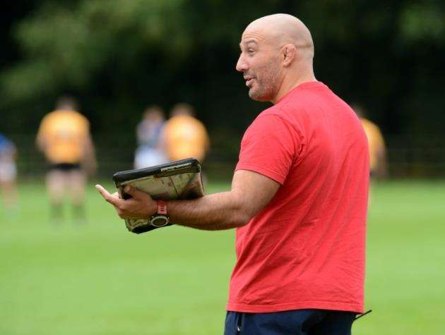Andy Long on the touchline during Stortfords 28-12 pre-season friendly win over Canterbury. Pic: Vikki Lince