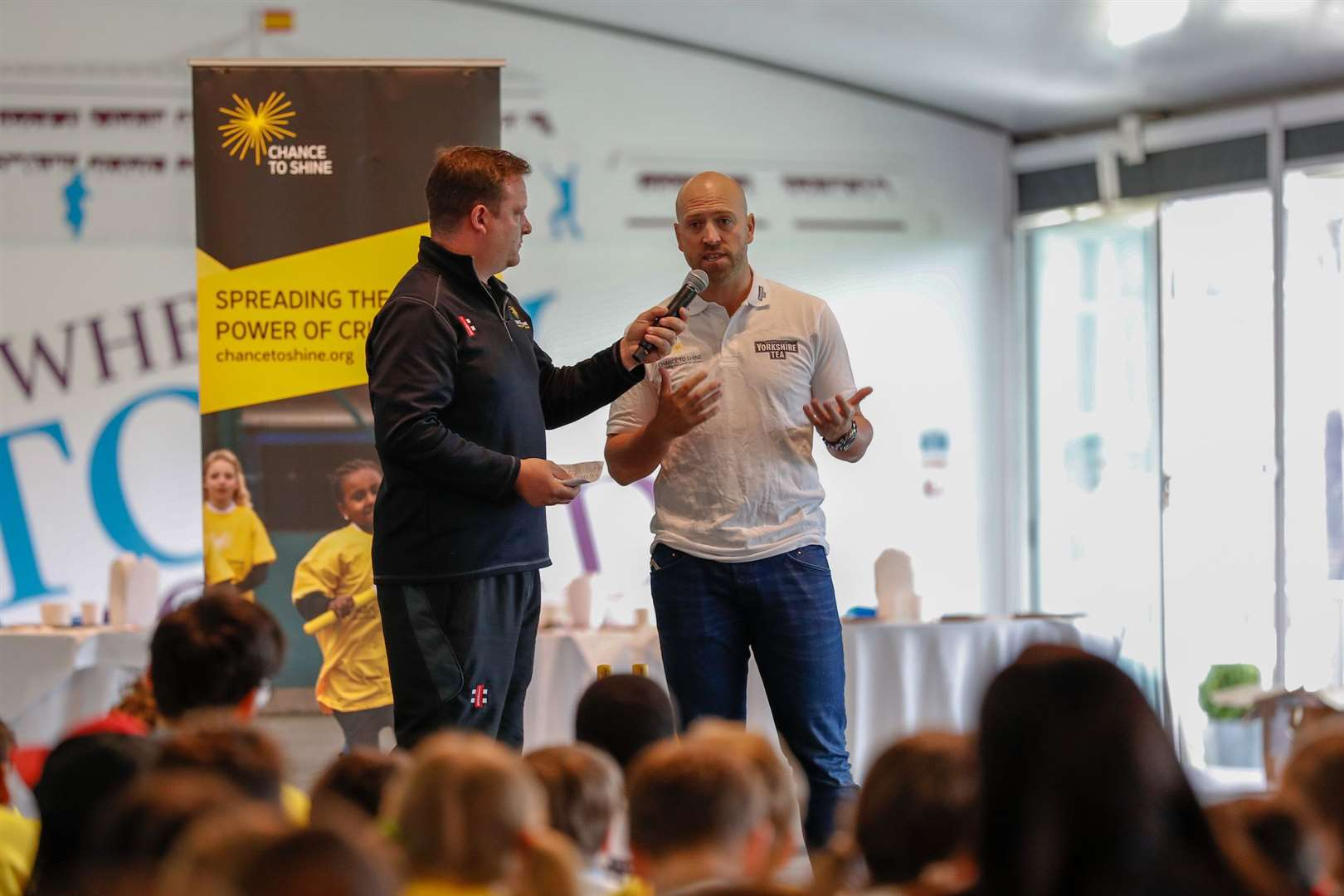 Matt Prior at the Chance to Shine day at Lord's featuring Windhill21 pupils. Picture: Luke Walker/Getty Images