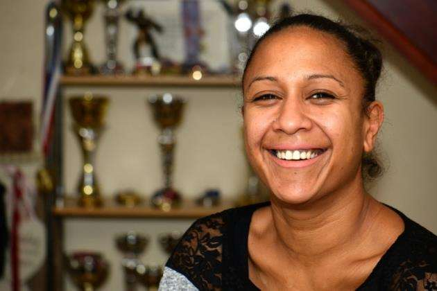 Tyha Currie returned to taekwondo following the death of her father