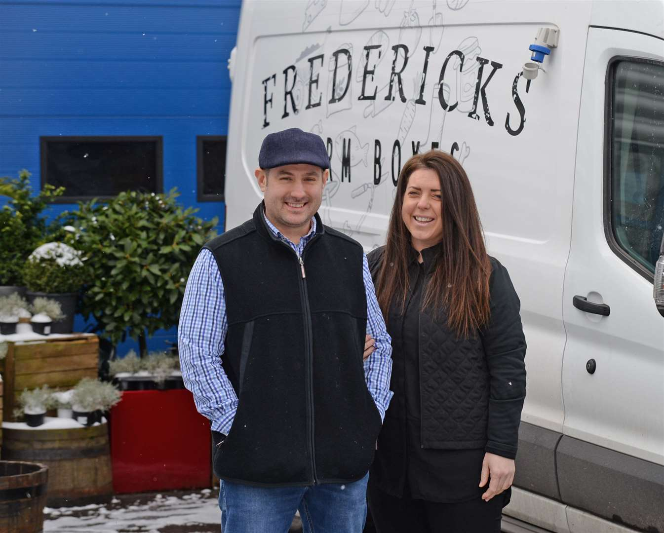 Frederick and Maria Hopkinson deliver their produce, homewares and gifts nationwide. Picture: Vikki Lince
