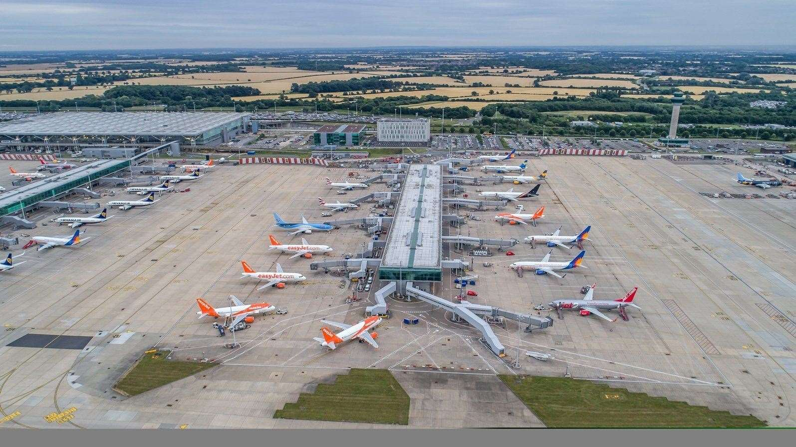 Records tumble at Stansted Airport. (9597283)