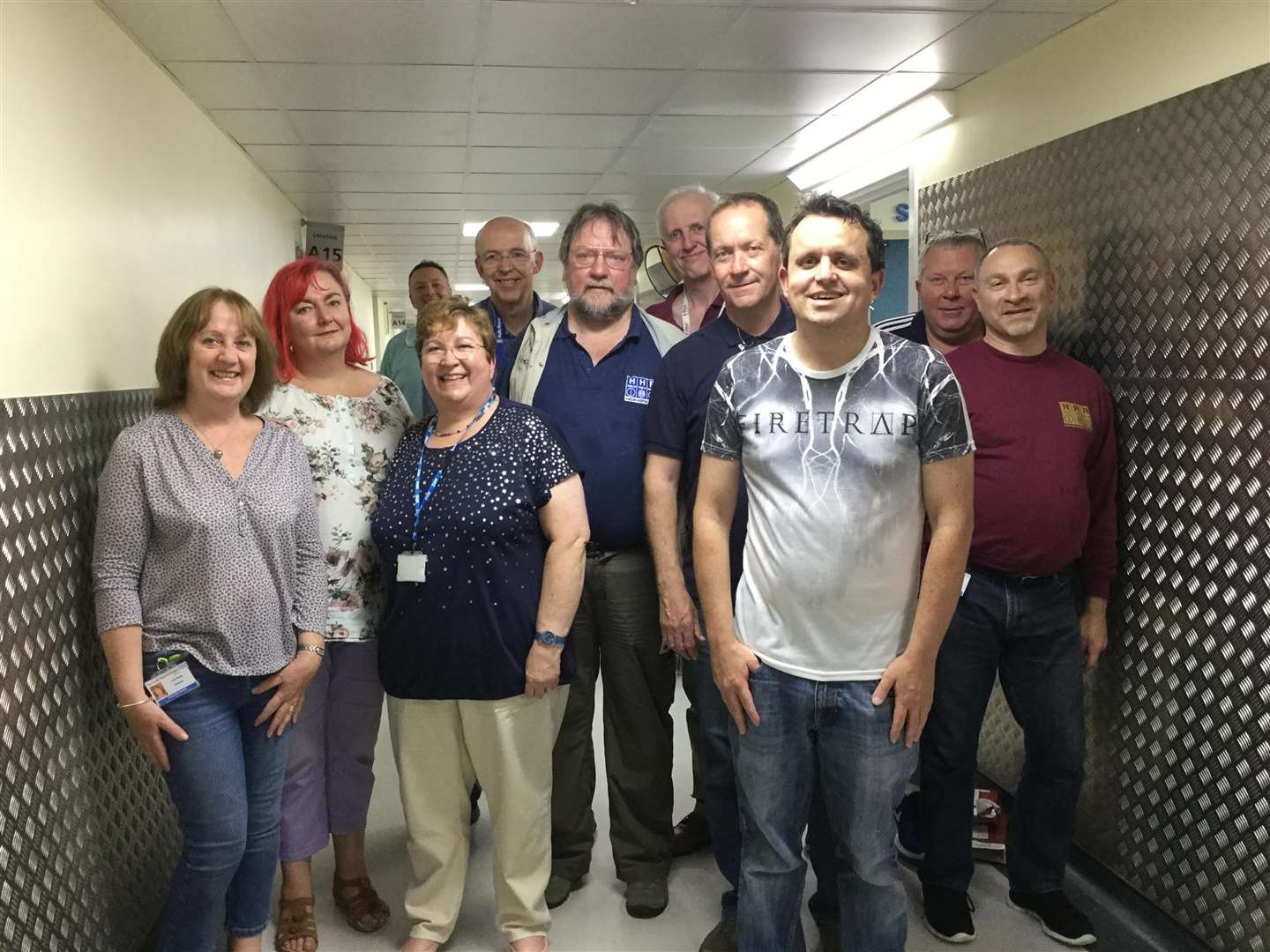 The Harlow Hospital Radio team at the time of recording their 2018 pantomime. Pictured L-R: Linda Ranger, Cosmic Stargirl (Lynne Andrews), Andy Magicman Meadows, Jane Bryson, Mark Ranger, Rob Furber, John Bryson, Peter Dodkin, Jonny Hayes, Kevin Bird, Marcos Kallou (6508692)