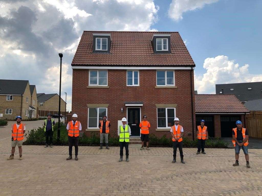 Taylor Wimpey site manager Marcus Martin and his team members at Stortford Fields (38641972)