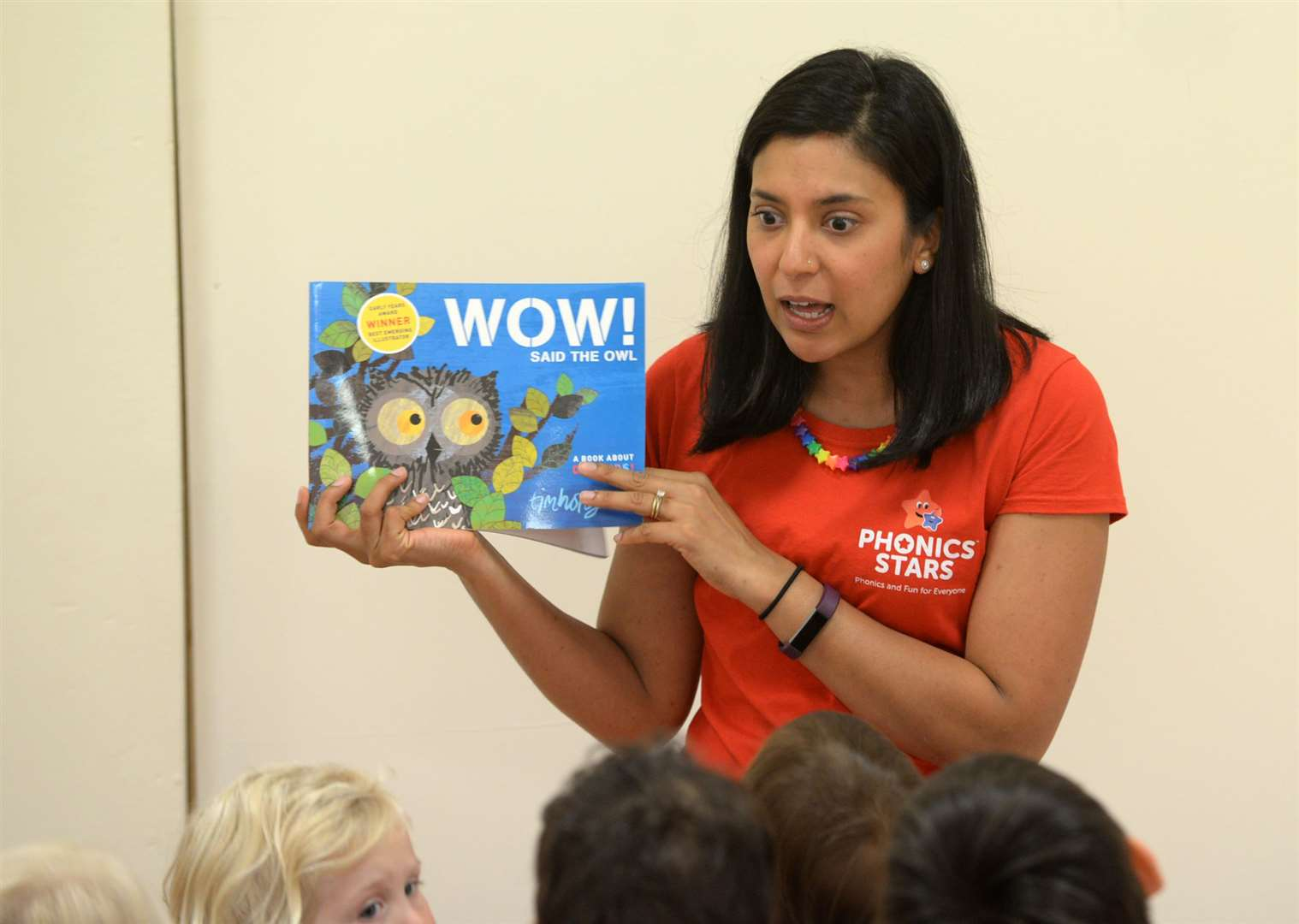 Jo Patel leading one of her Phonics Stars sessions. Picture: Vikki Lince