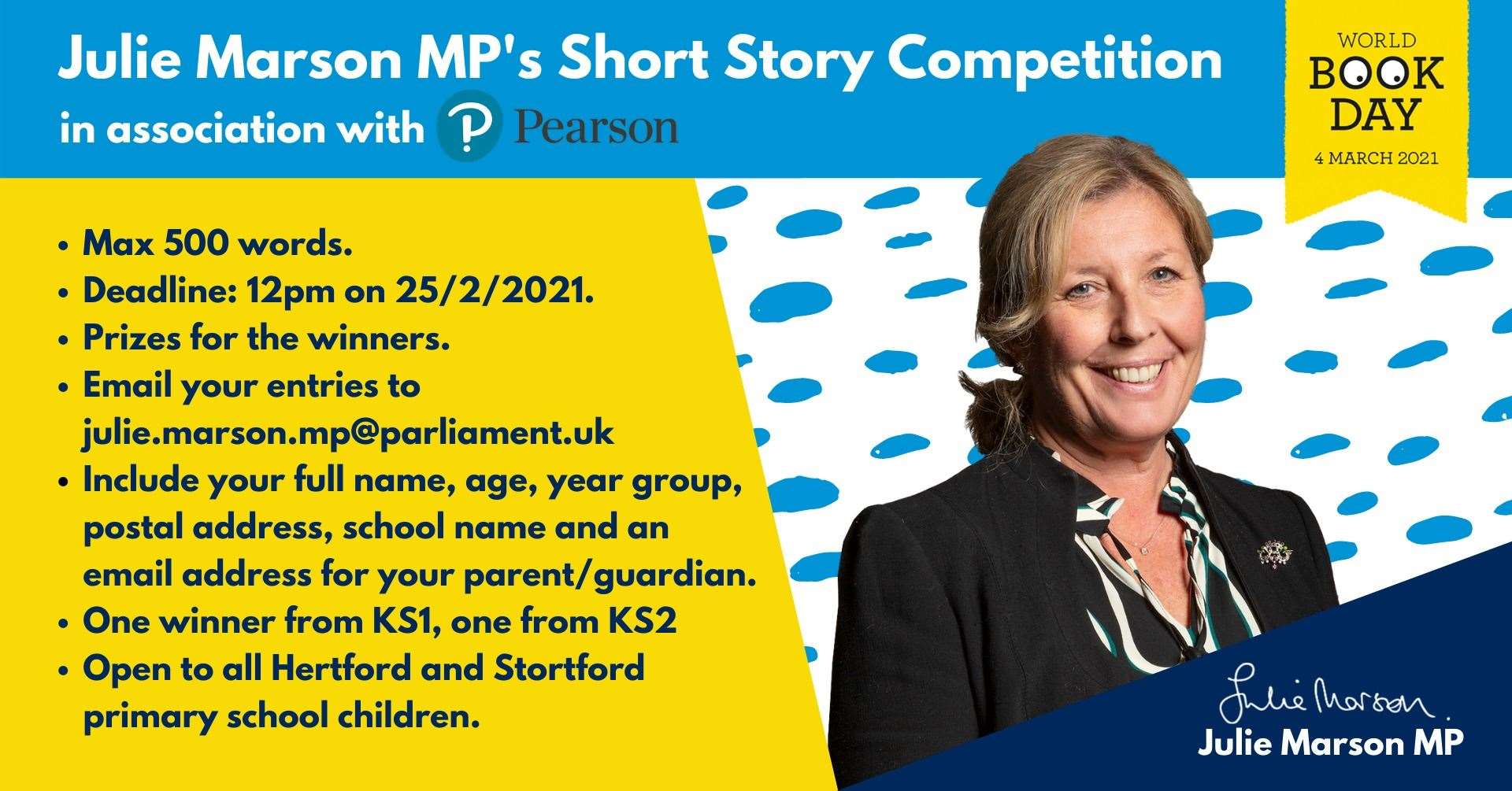 Julie Marson's short story competition for primary pupils (44954205)