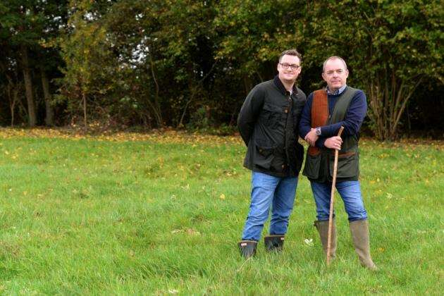 Poshlots, Jobbers Wood, Great Hadham Road. Tony Devlin and his son Ben Devlin are proposing a new allotment and nature site on their land at Jobbers Wood.Pic: Vikki Lince