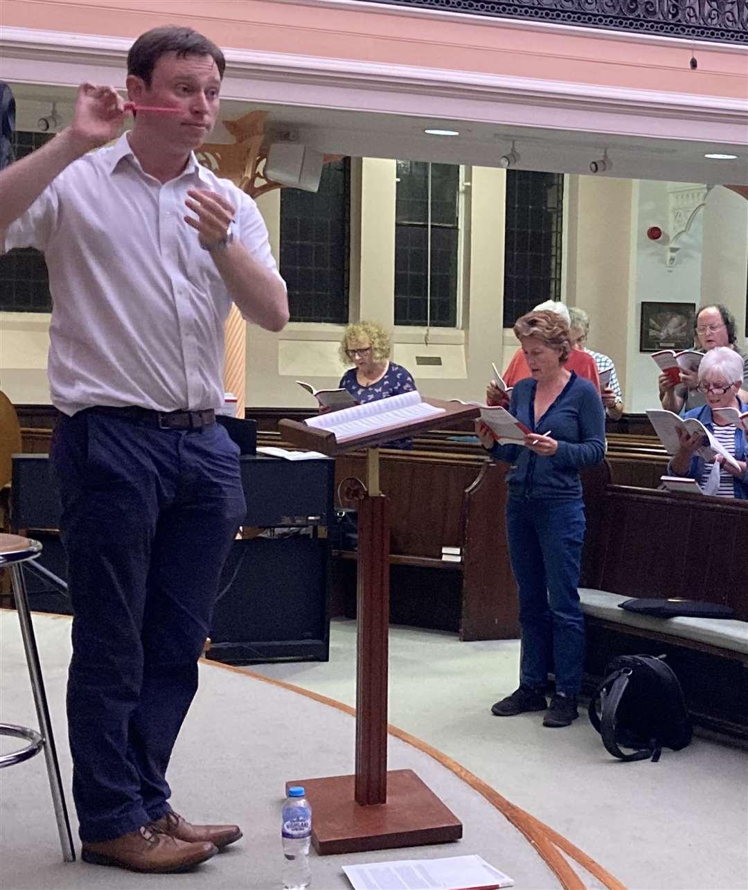 Bishop's Stortford Choral Society musical director Richard Brain