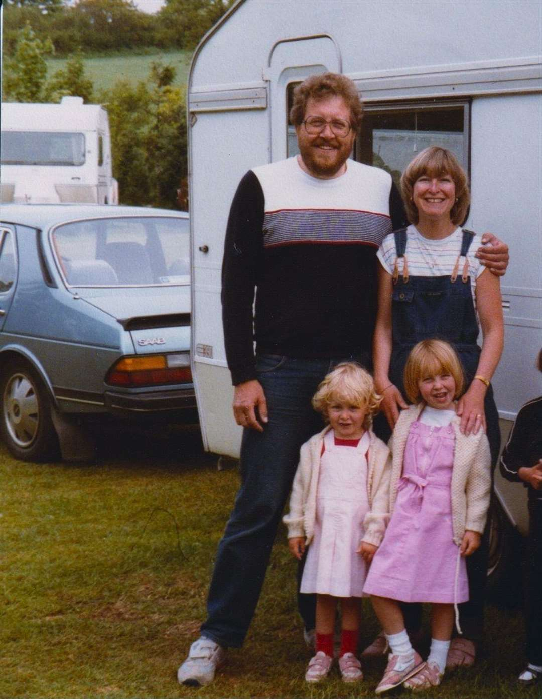 Chas Gill, wife Rosemary and their daughters Victoria, 5, and Lucy, 3, enjoying a family caravanning holiday in 1984 (33114740)