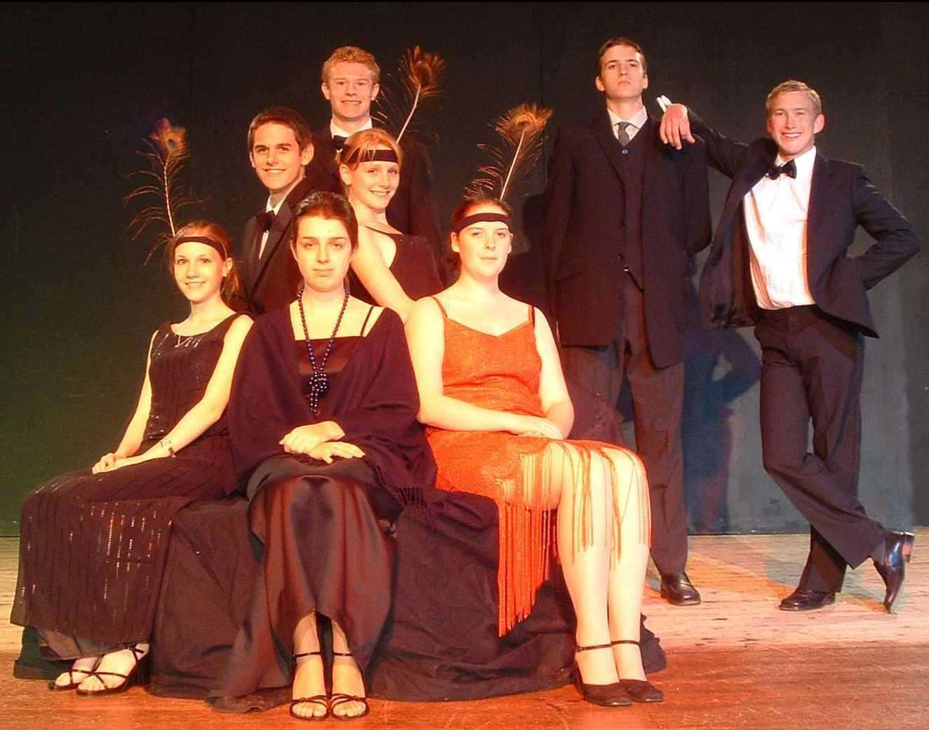 Greg, back second right, as Jeeves in a school production of Jeeves and Wooster (7218470)
