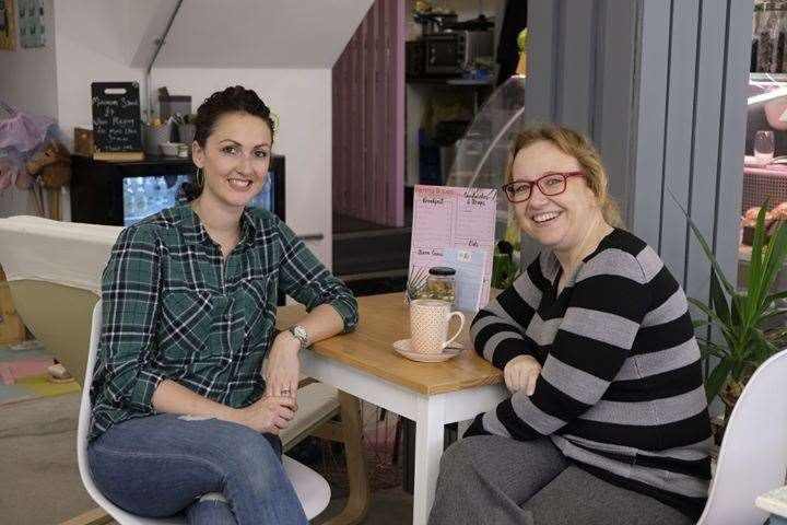 Penny & Lou cafe co-owner Louise Wickens and counsellor Nicola Webb (17561528)