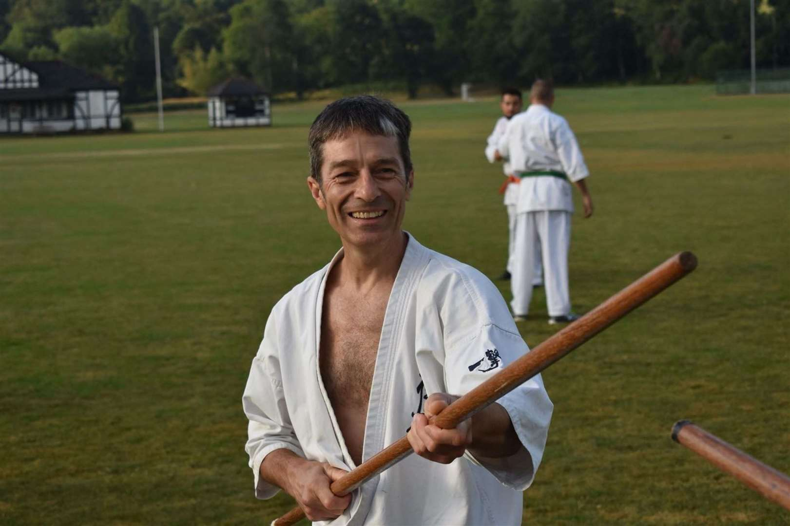 Mark Kingsland is an instructor, or sensei, at Bishop's Stortford Kyokushin Karate