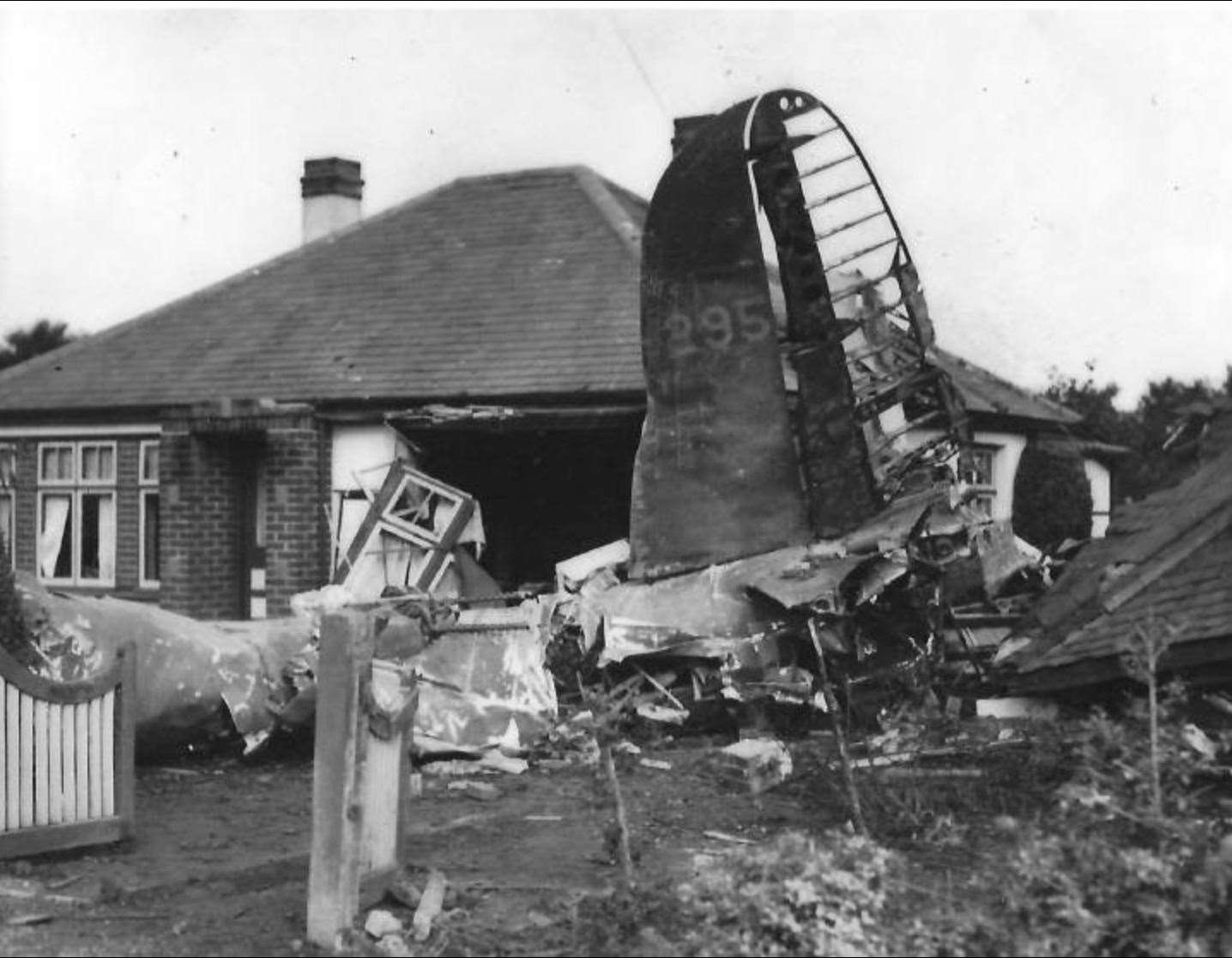 The B-26 crashed into a house in Chelmsford Road in poor weather just miles from Matching airfield on its way back from France