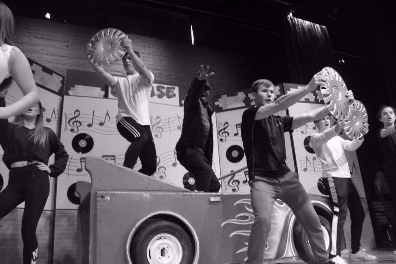 Rehearsals for Grease at Herts and Essex High School (26978376)