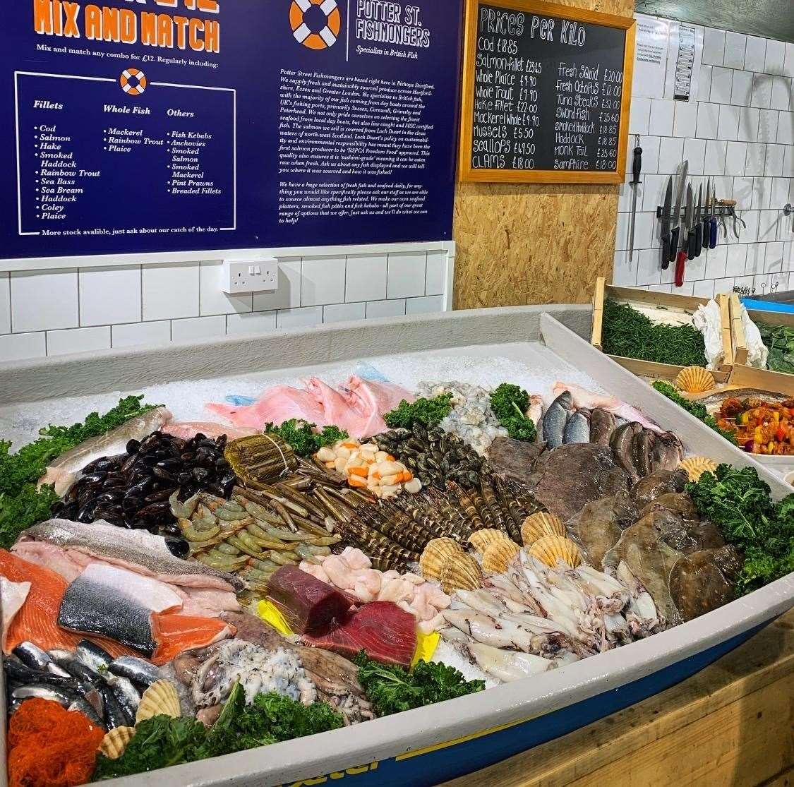 The varied selection of fresh fish available from Potter Street Fishmongers in Eat 17 (32212247)