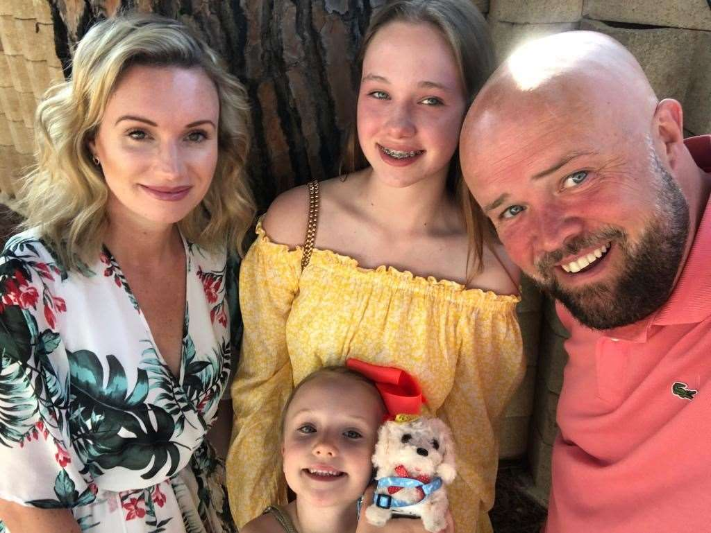 Hailey Baker with husband Andy and daughters Jasmine and Tilly (34737791)